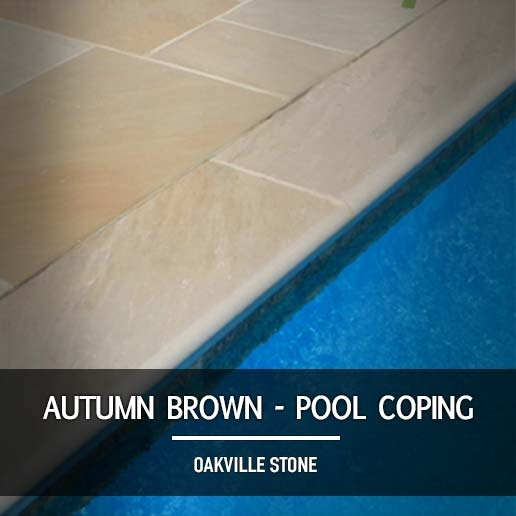 Autumn Brown Pool Coping