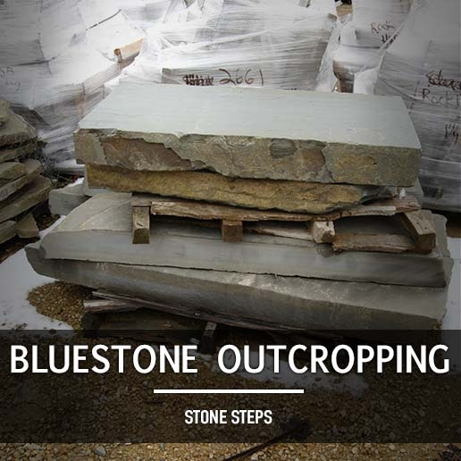Bluestone Outcropping Steps