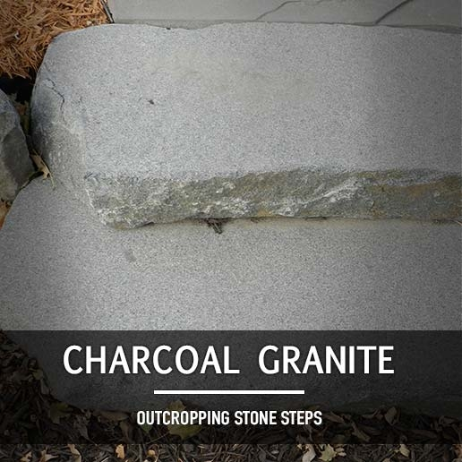Charcoal Granite Outcropping Steps