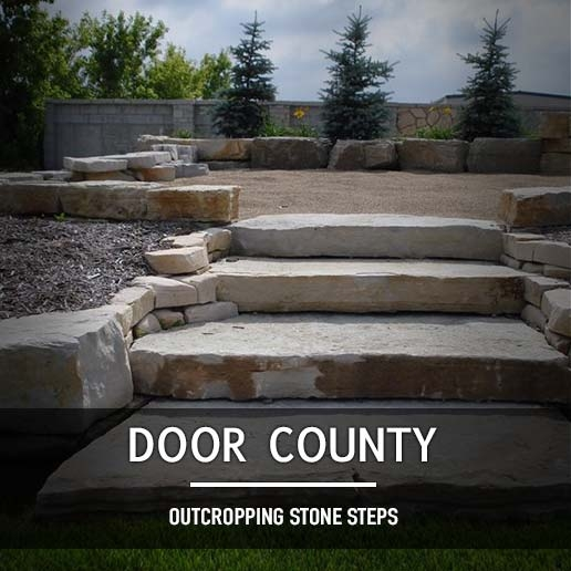 Door County Outcropping Steps