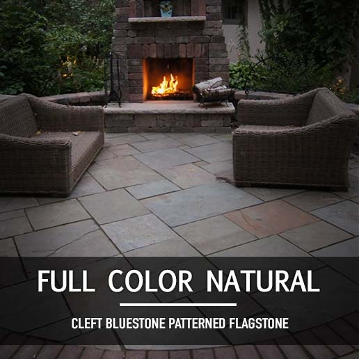 Full Color Natural Cleft Bluestone Patterned Flagstone