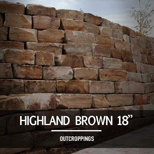 "Highland Brown 18"" Outcroppings - Highland Brown 18"" Outcroppings - Landscape Supply In Minnesota"
