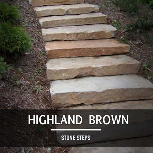 Aqua Grantique Flagstone - Highland Brown Steps - Landscape Supply In Minnesota - Minneapolis
