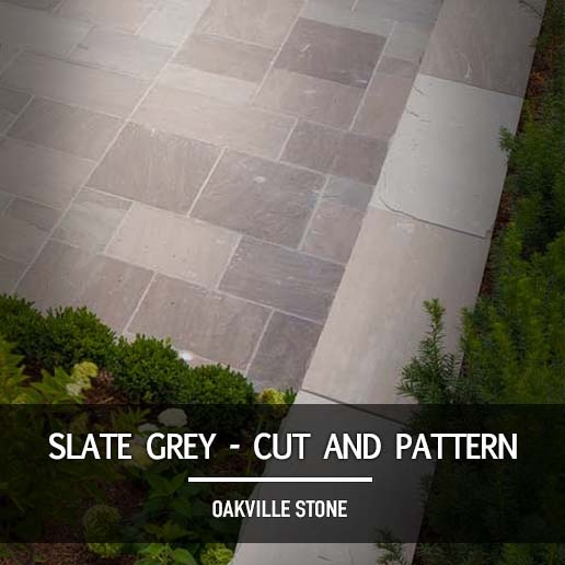 Slate Grey Cut and Patterned
