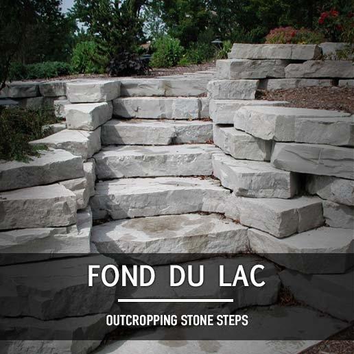 Fond Du Lac Outcropping Steps Rock Hard Landscape Supply