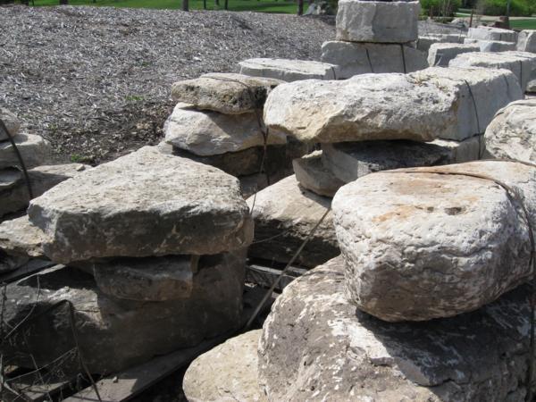 Weathered wisconsin limestone rock hard landscape supply for Limestone landscape rock